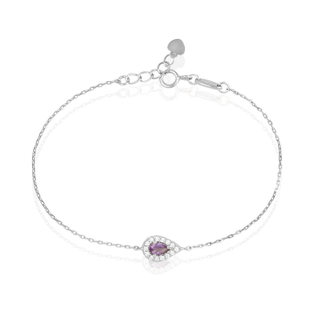 Bracelet Tania Argent Blanc Pierre De Synthese Et Oxyde De Zirconium - Bracelets fantaisie Femme | Histoire d'Or