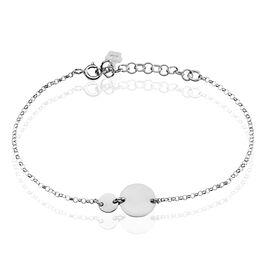 Bracelet Augustine Argent Blanc - Bracelets fantaisie Femme | Histoire d'Or