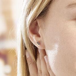 Boucles D'oreilles Puces Urbice Or Jaune Saphir - Clous d'oreilles Femme | Histoire d'Or