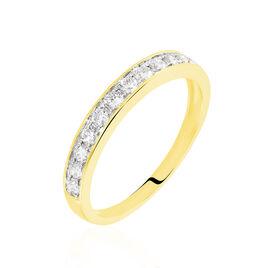 Demi-alliance Or  Jaune  Valentine Diamant Synthetique - Alliances Femme | Histoire d'Or