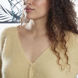 Collier Modana Or Blanc Diamant - Colliers Coeur Femme | Histoire d'Or