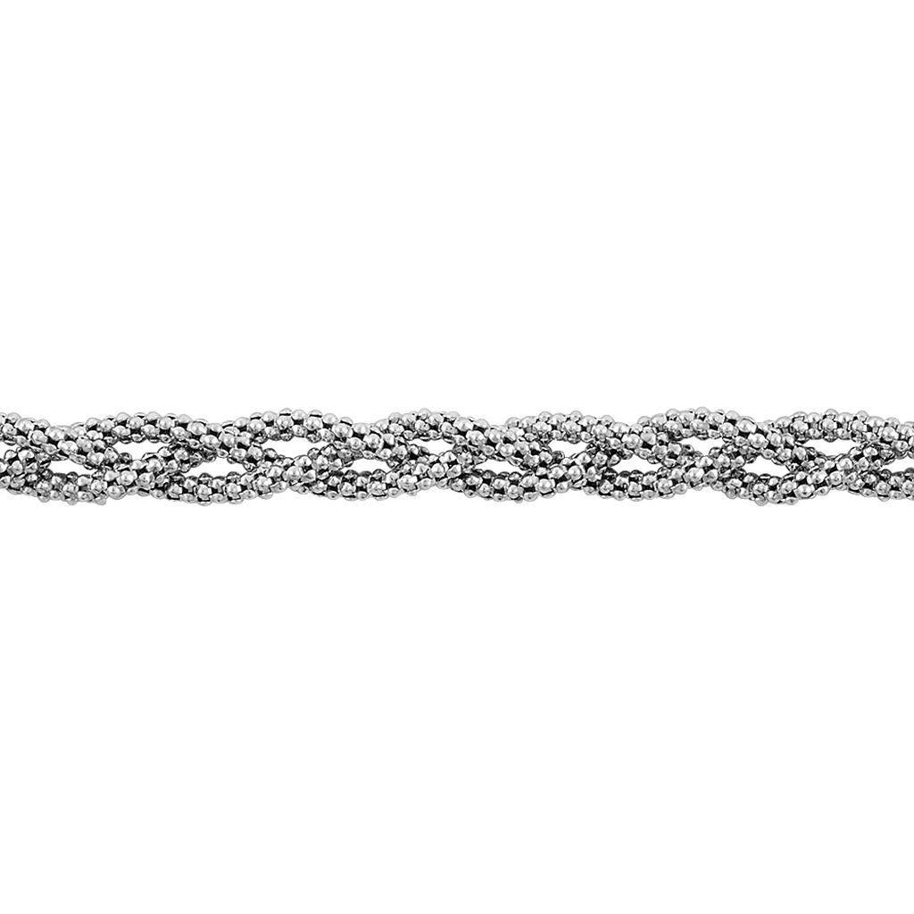 Bracelet Marie-angeline Maille Coreene Argent Blanc - Bracelets chaîne Femme   Histoire d'Or