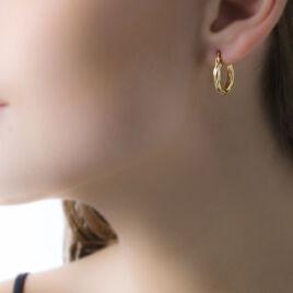 Créoles Ananas Fil Rond Or Jaune - Boucles d'oreilles créoles Femme | Histoire d'Or