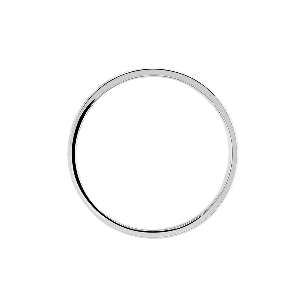Alliance Mat Et Brillant Liseret Ruban Plat Palladium Blanc - Alliances Homme | Histoire d'Or