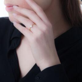 Bague Inesse Or Jaune Oxyde De Zirconium - Bagues solitaires Femme   Histoire d'Or