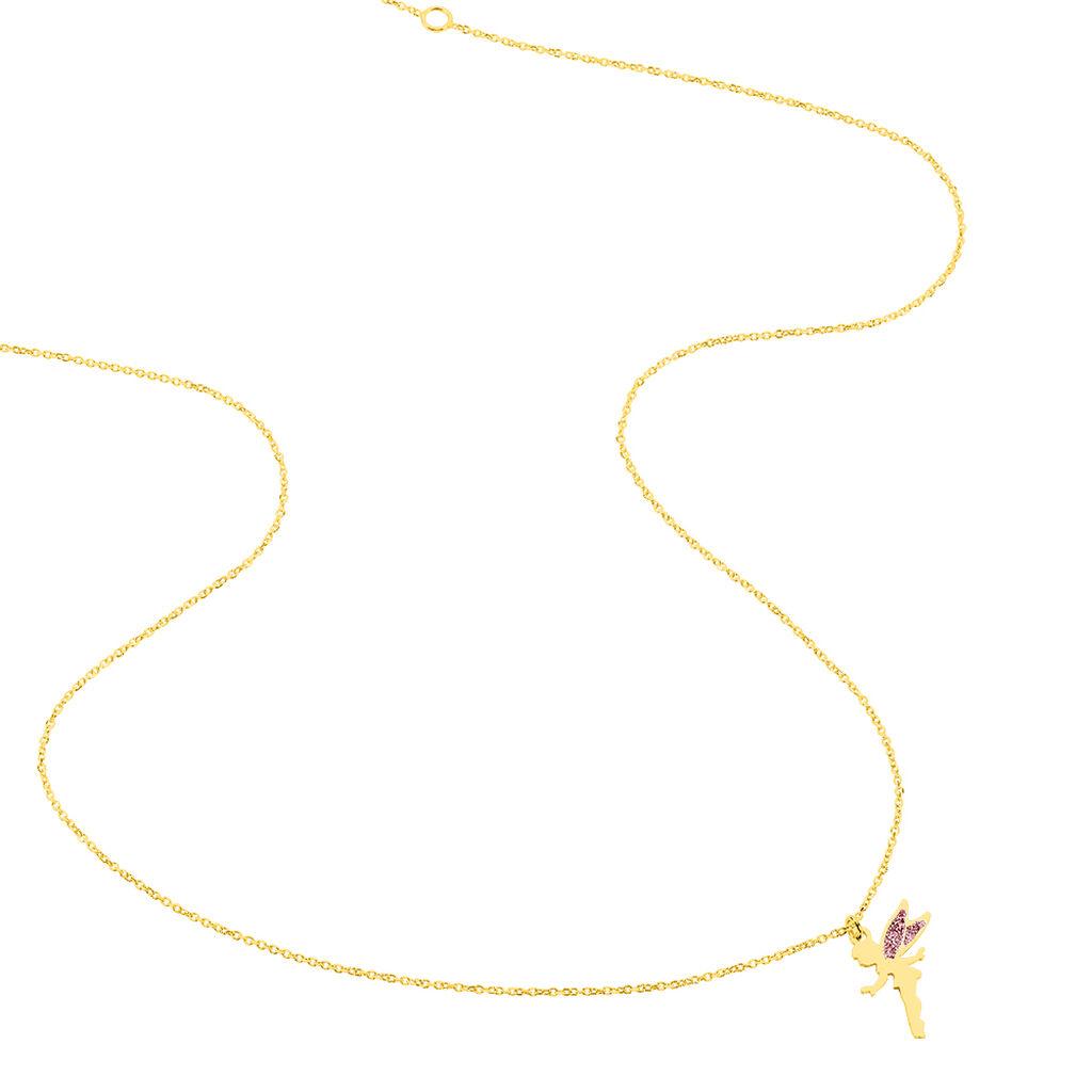 Collier Feelia Or Jaune - Colliers Naissance Enfant   Histoire d'Or