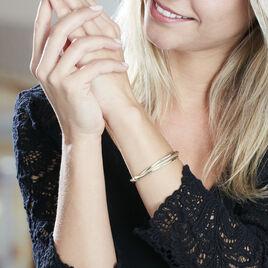 Bracelet Jonc Claudie 3 Fils Entrelaces Or Jaune - Bracelets joncs Femme | Histoire d'Or