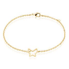 Bracelet So Trendy Plaque Or Papillon - Bracelets Papillon Femme   Histoire d'Or