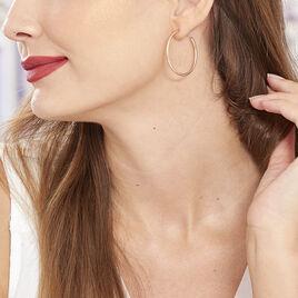 Creoles Argent Rose - Boucles d'oreilles créoles Femme | Histoire d'Or