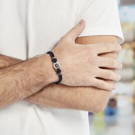 Bracelet Paulette Acier Blanc - Bracelets cordon Homme | Histoire d'Or