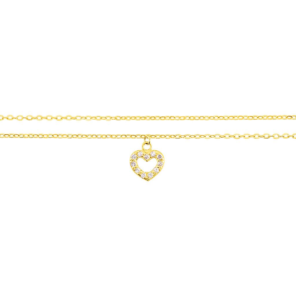 Chaîne De Cheville Salome Or Jaune - Bijoux Coeur Femme | Histoire d'Or