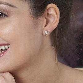 Boucles D'oreilles Puces Liana Or Jaune Diamant - Clous d'oreilles Femme   Histoire d'Or