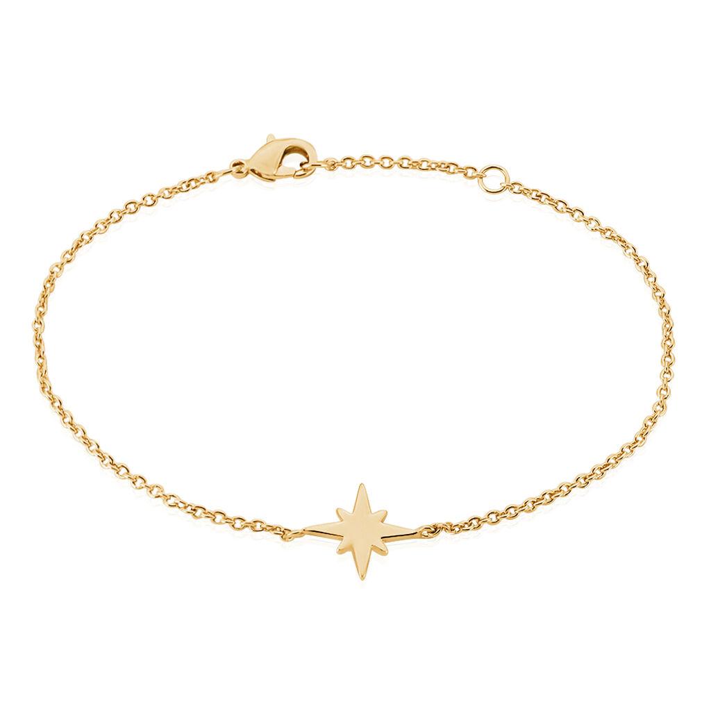 Bracelet Alisee Plaque Or Jaune - Bijoux Etoile Femme   Histoire d'Or