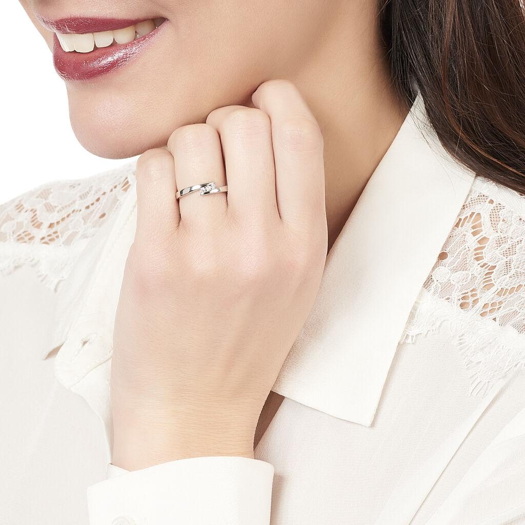Bague Galya Or Blanc Diamant - Bagues avec pierre Femme   Histoire d'Or