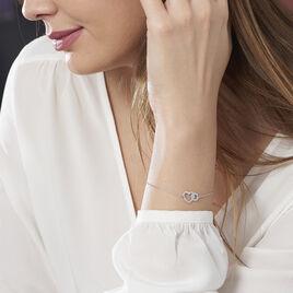 Bracelet Alysa Or Blanc Diamant - Bracelets Coeur Femme | Histoire d'Or