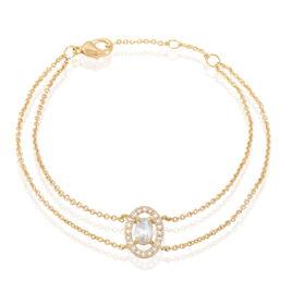 Bracelet Classical Plaque Or Jaune Oxyde De Zirconium - Bracelets fantaisie Femme   Histoire d'Or