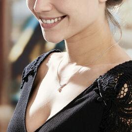 Collier Zettia Argent Blanc Oxyde De Zirconium - Colliers fantaisie Femme   Histoire d'Or