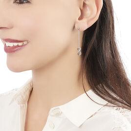 Boucles D'oreilles Pendantes Ynya Acier Blanc - Boucles d'Oreilles Infini Femme | Histoire d'Or