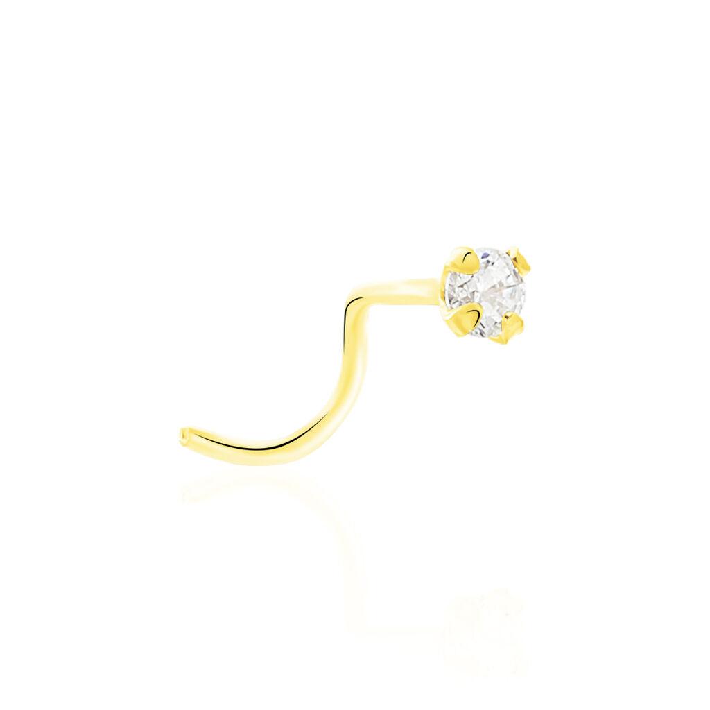 Piercing De Nez Fethi Serti Griffe Or Jaune Oxyde De Zirconium - Bijoux Femme   Histoire d'Or