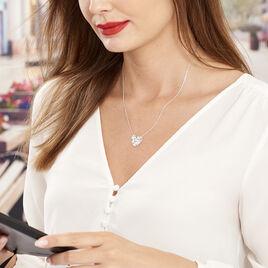 Collier Valentine Argent Blanc Oxyde De Zirconium - Colliers Coeur Femme   Histoire d'Or