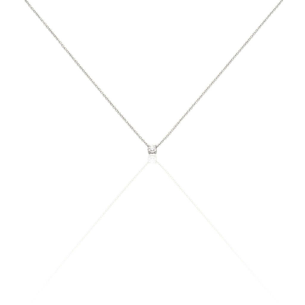 Collier Victoria Or Blanc Diamant