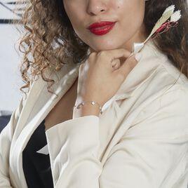 Bracelet Anasse Argent Blanc Oxyde De Zirconium - Bracelets Coeur Femme | Histoire d'Or