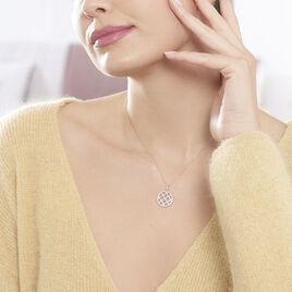 Collier Armandine Or Rose Oxyde De Zirconium - Bijoux Femme | Histoire d'Or