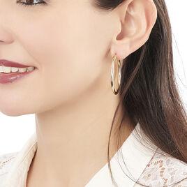 Créoles Ada Lisse Plaque Or Jaune - Boucles d'oreilles créoles Femme | Histoire d'Or