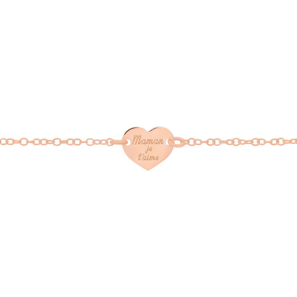 Bracelet Betie Argent Rose - Bracelets Coeur Femme | Histoire d'Or