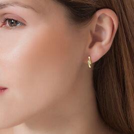 Boucles D'oreilles Puces Galya Or Jaune Diamant - Boucles d'oreilles pendantes Femme | Histoire d'Or