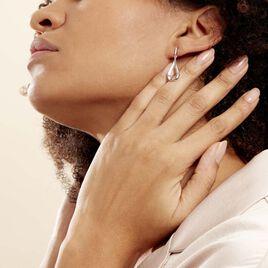 Boucles D'oreilles Pendantes Sila Argent Blanc - Boucles d'oreilles fantaisie Femme | Histoire d'Or