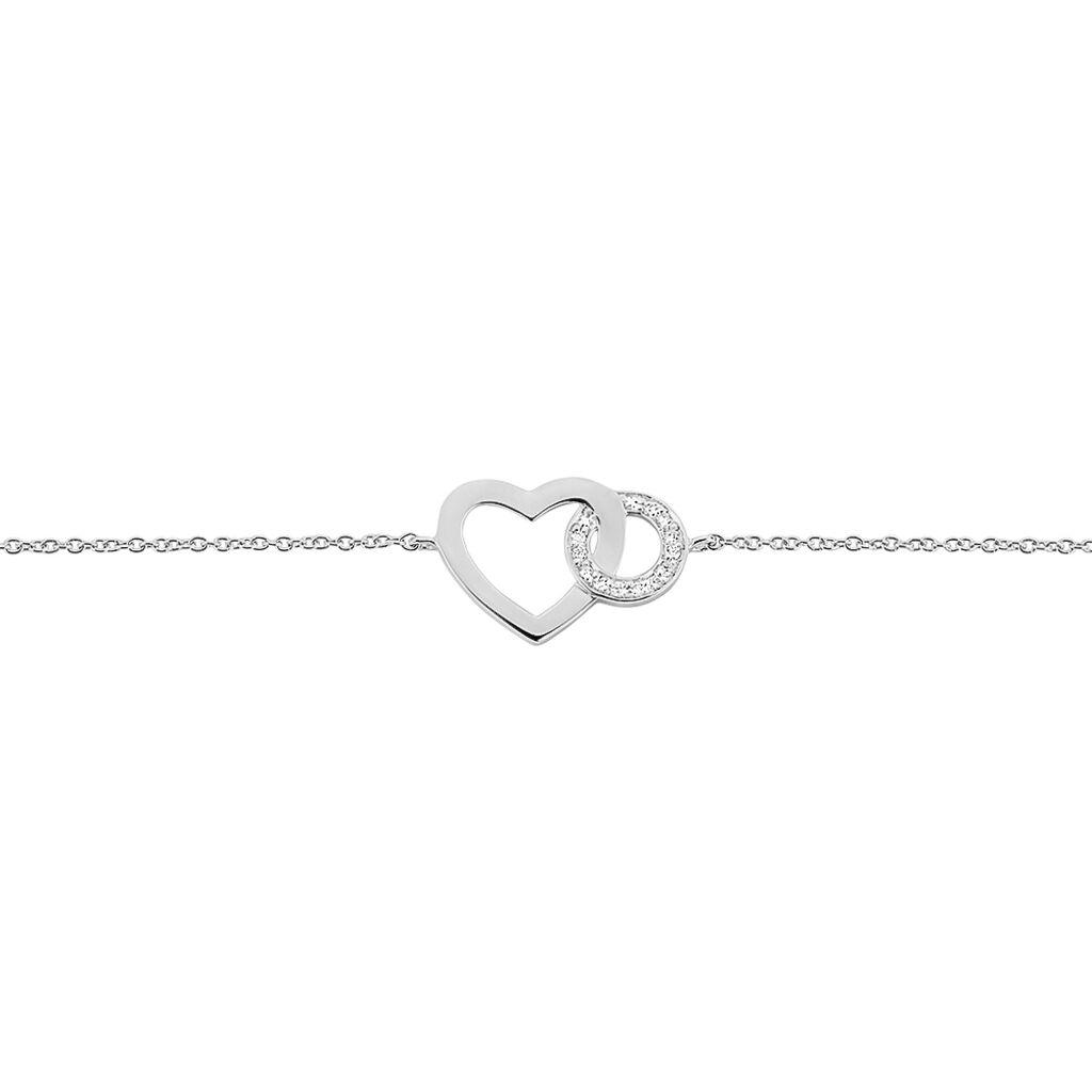 Bracelet Alysa Or Blanc Diamant - Bracelets Coeur Femme   Histoire d'Or