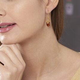 Boucles D'oreilles Pendantes Lyla Argent Jaune Ambre - Boucles d'oreilles fantaisie Femme | Histoire d'Or
