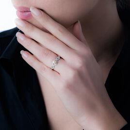 Bague Mahina Argent Blanc Perle De Culture Et Oxyde De Zirconium - Bagues avec pierre Femme   Histoire d'Or