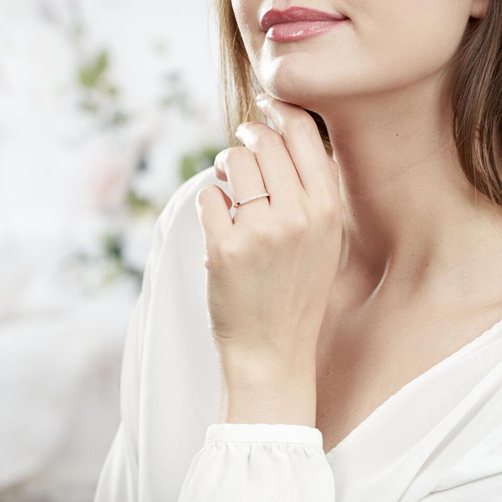 Alliance Pristina Or Rose Diamant - Alliances Femme | Histoire d'Or