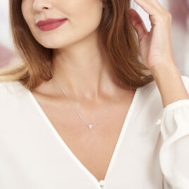 Collier Brendana Argent Blanc Oxyde De Zirconium - Colliers fantaisie Femme | Histoire d'Or