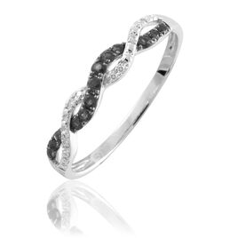 Bague Florentina Or Blanc Diamant - Bagues avec pierre Femme   Histoire d'Or