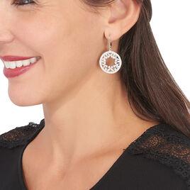 Boucles D'oreilles Pendantes Katucia Argent Blanc Oxyde De Zirconium - Boucles d'Oreilles Papillon Femme | Histoire d'Or