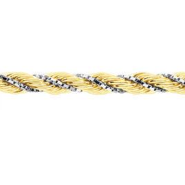 Collier Jerry Maille Corde Et Venitienne Or Bicolore - Chaines Femme   Histoire d'Or