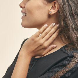 Boucles D'oreilles Puces Vrille Ovale Or Jaune Topaze - Clous d'oreilles Femme | Histoire d'Or
