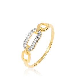 Bague Or Jaune Diamant - Bagues avec pierre Femme   Histoire d'Or