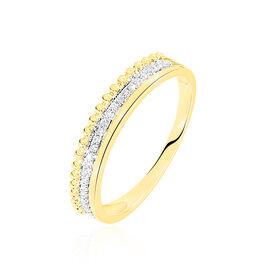 Bague Marcianne Or Jaune Diamant - Bagues avec pierre Femme   Histoire d'Or
