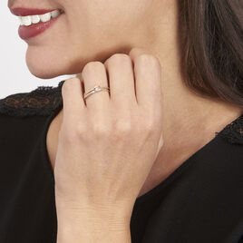 Bague Giusta Or Tricolore Diamant - Bagues solitaires Femme | Histoire d'Or