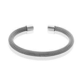 Bracelet Jonc Acier Blanc Sibil - Bracelets fantaisie Femme | Histoire d'Or