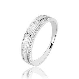 Bague Constance Platine Blanc Diamant - Bagues avec pierre Femme | Histoire d'Or