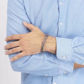 Bracelet Francois Acier Blanc - Bracelets fantaisie Homme | Histoire d'Or