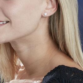 Boucles D'oreilles Pendantes Charlene Or Blanc Diamant Synthetique - Boucles d'oreilles pendantes Femme | Histoire d'Or