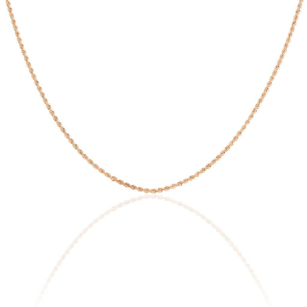 Collier Jerry Maille Corde Or Rose - Chaines Femme | Histoire d'Or