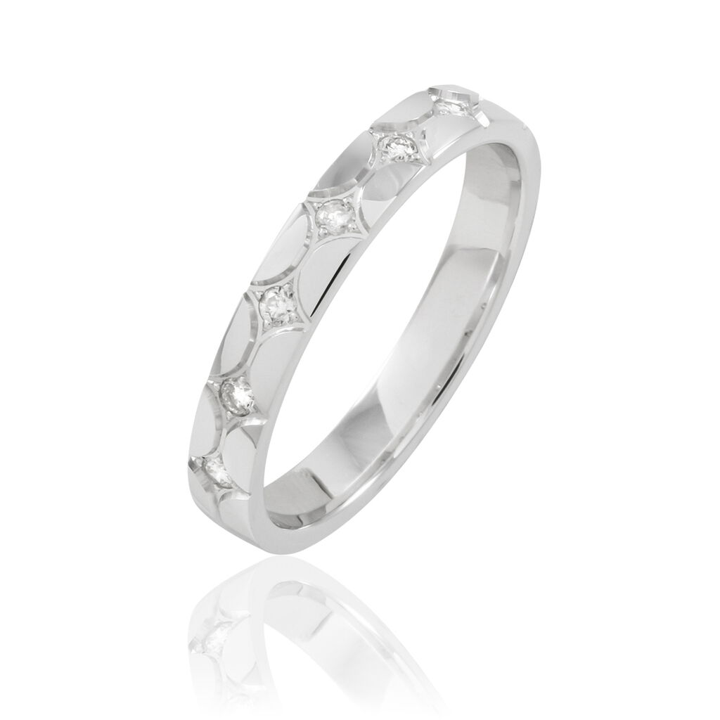 Alliance Lola Or Blanc Diamant - Alliances Femme | Histoire d'Or