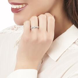 Bague Kassandra Argent Blanc Oxyde De Zirconium - Bagues avec pierre Femme | Histoire d'Or